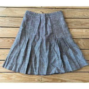 LUCA LUCA Knee Length Silk Linen Skirt Size 42